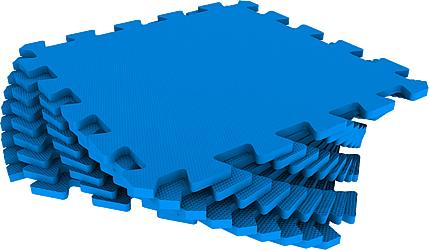Набор мягких плиток 30*30 см. Синий. Мягкий пол. Мягкое модульное покрытие. Коврики пазлы. Пол в детскую комнату.