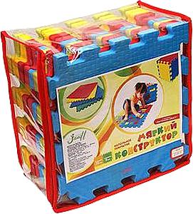 Набор мягких плиток 33*33 см. Разноцветный. 9 или 18 мм. Мягкий пол. Мягкое модульное покрытие. Коврики пазлы. Пол в детскую комнату.