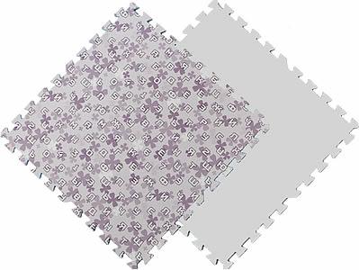 """Мягкие плитки пазлы """"Фиолетовые буквы и цифры"""". MTP-601062.  Мягкий детский пол. Мягкое модульное покрытие. Коврики пазлы. Пол в детскую комнату."""