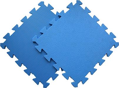 Детский мягкий пол «Цветные звёзды синие». MTP-30107 Blue. Мягкий пол. Мягкое модульное покрытие. Коврики пазлы. Пол в детскую комнату.