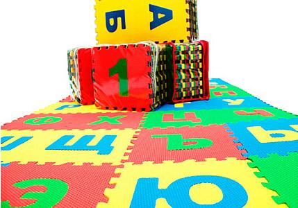"""Детские развивающие коврики пазлы. Набор развмягких детских модульных плиток """"Русский алфавит """""""