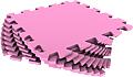 Набор мягких плиток 33*33 см. Розовый. 33МП/210. Мягкий пол. Мягкое модульное покрытие. Коврики пазлы. Пол в детскую комнату.