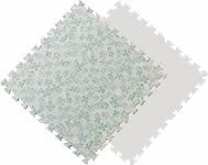"""Мягкие плитки пазлы """"Зелёные буквы и цифры"""". MTP-601062.  Мягкий детский пол. Мягкое модульное покрытие. Коврики пазлы. Пол в детскую комнату."""