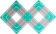 "Набор мягких модульных плиток (коврик-пазл) ""Автодорога"" MDP-30115"