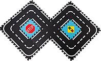 "Набор мягких модульных плиток (коврик-пазл) ""Автодорога со знаками"" MDP-30117S"