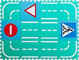 "Набор мягких модульных плиток (коврик-пазл) ""Автодорога со знаками"" MDP-30212S"