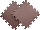 Детский мягкий пол «Цветные звёзды коричневые». MTP-30107 Broun. Мягкий пол. Мягкое модульное покрытие. Коврики пазлы. Пол в детскую комнату.