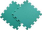 Детский мягкий пол «Цветные звёзды зеленые». MTP-30107 Green. Мягкий пол. Мягкое модульное покрытие. Коврики пазлы. Пол в детскую комнату.