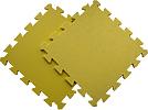 Детский мягкий пол «Цветные звёзды желтые». MTP-30107 Blue. Мягкий пол. Мягкое модульное покрытие. Коврики пазлы. Пол в детскую комнату.