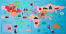 """Набор мягких модульных плиток (коврик-пазл) """"Карта мира"""" MTP-31062"""