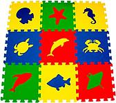 """Набор мягких детских модульных плиток """"Морские животные"""""""